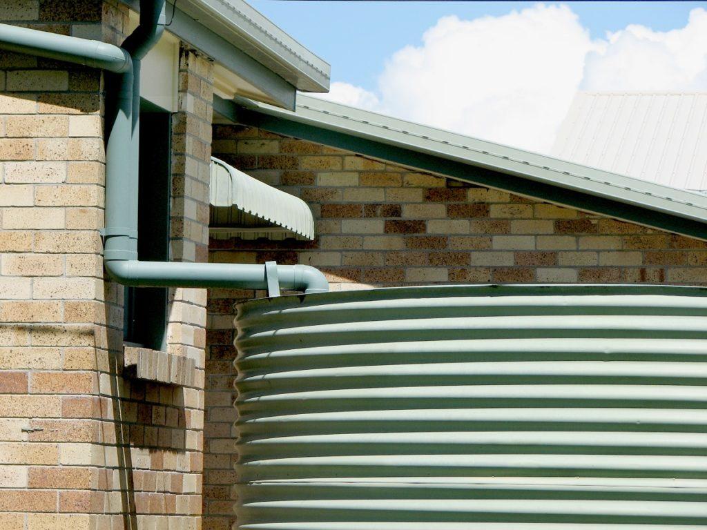 Green rainwater tank