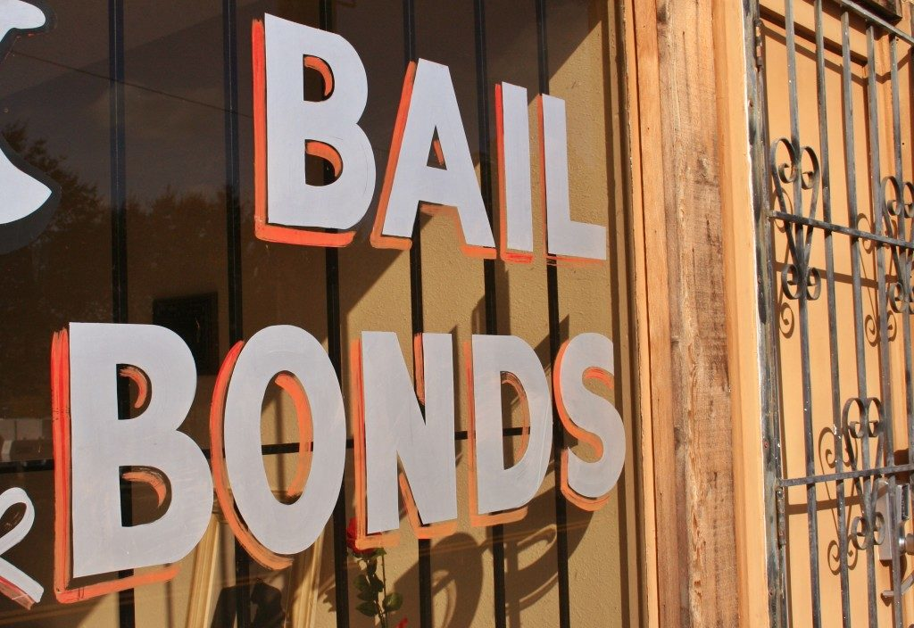 Bail Bonds Sign in The Window