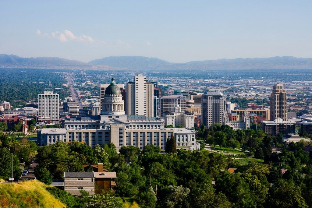 view of salt lake city utah
