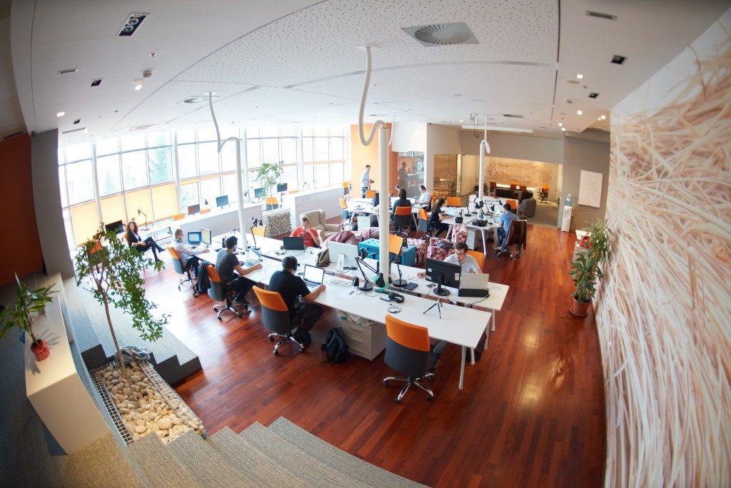 Office with open floor plan