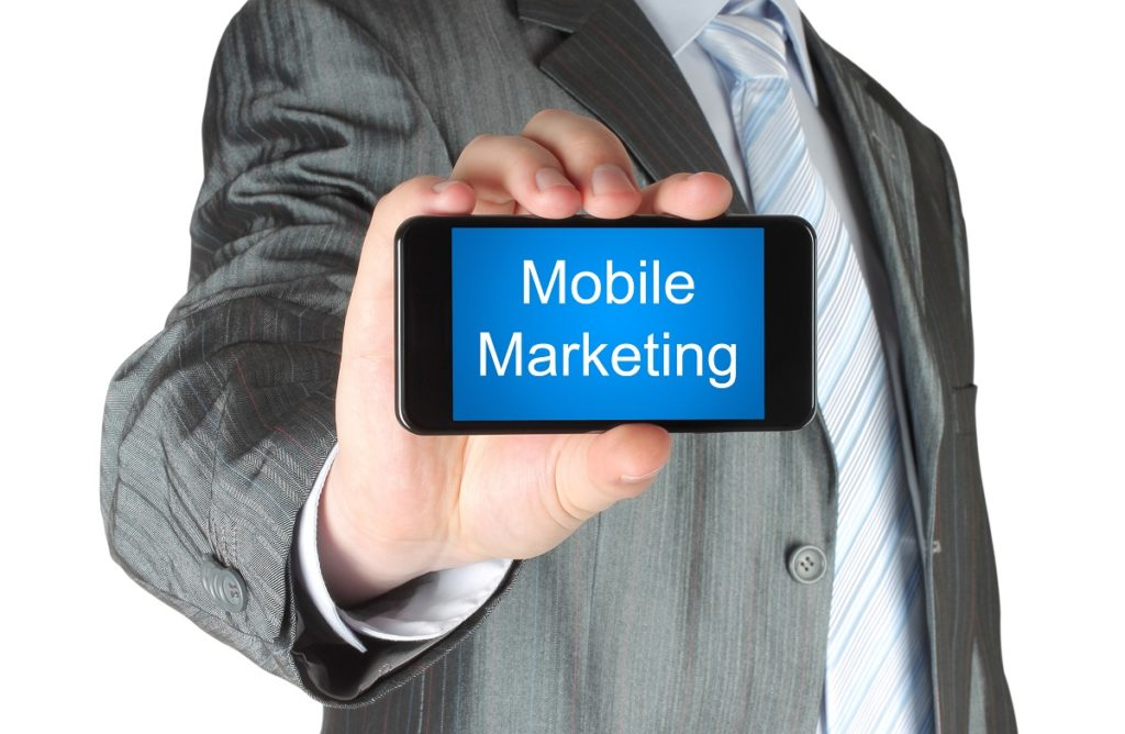 Phone showing mobile marketing