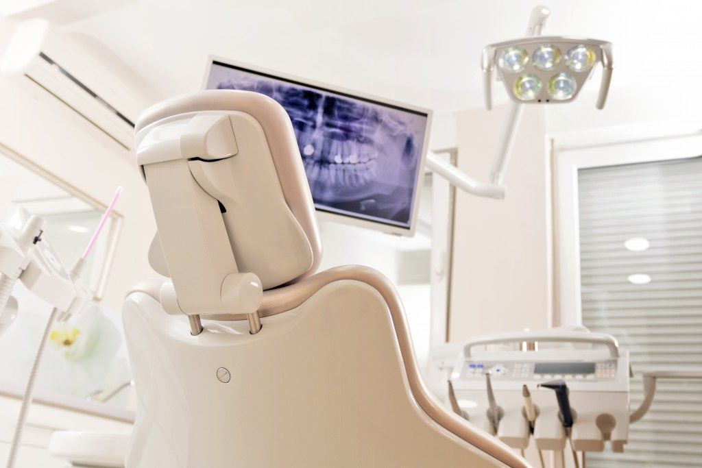 Cream-Coloured Dental Chair