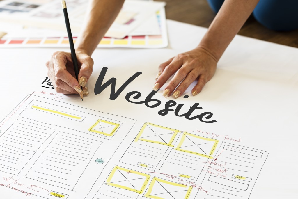 website layout being planned