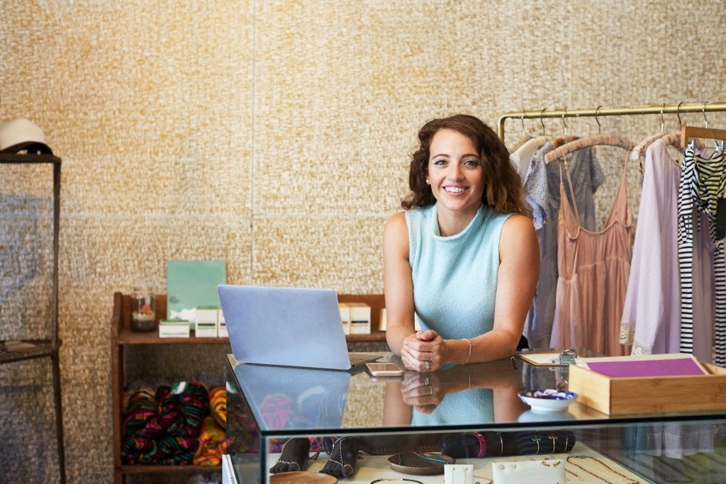 female shop owner in her office