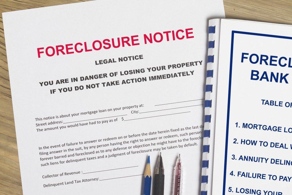 forclosure notice