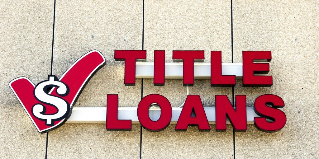 Titile Loan Sign