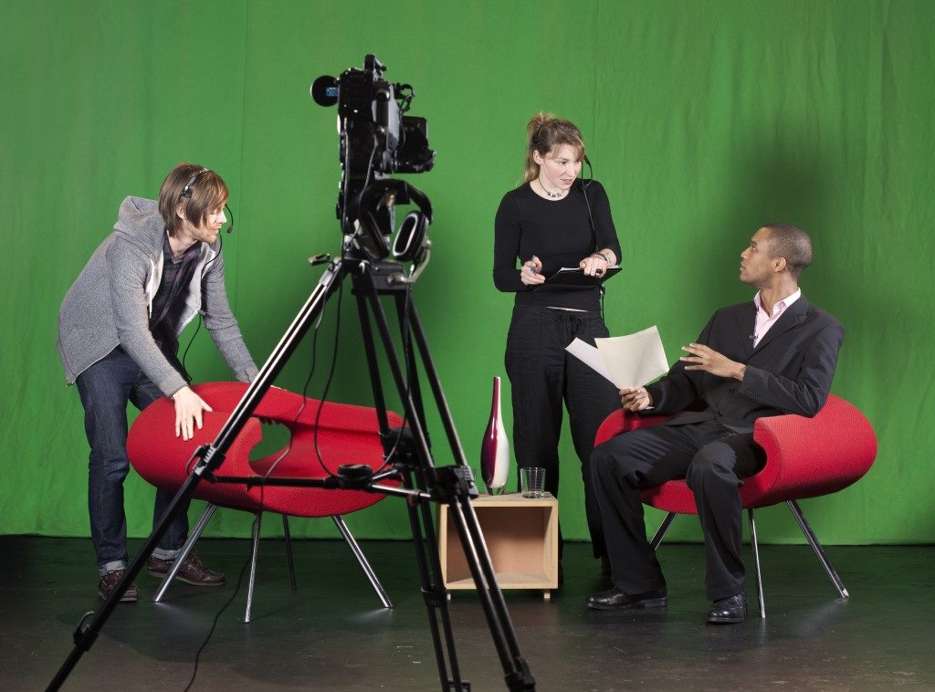 Studio set for video production