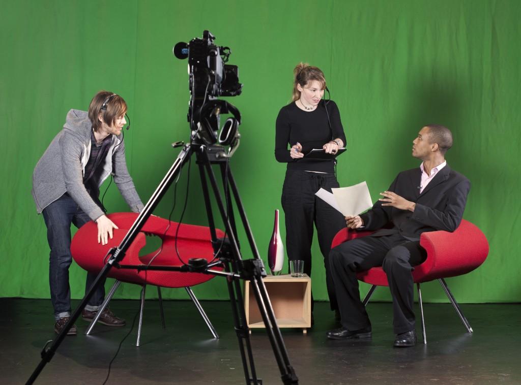 Studio set for video production