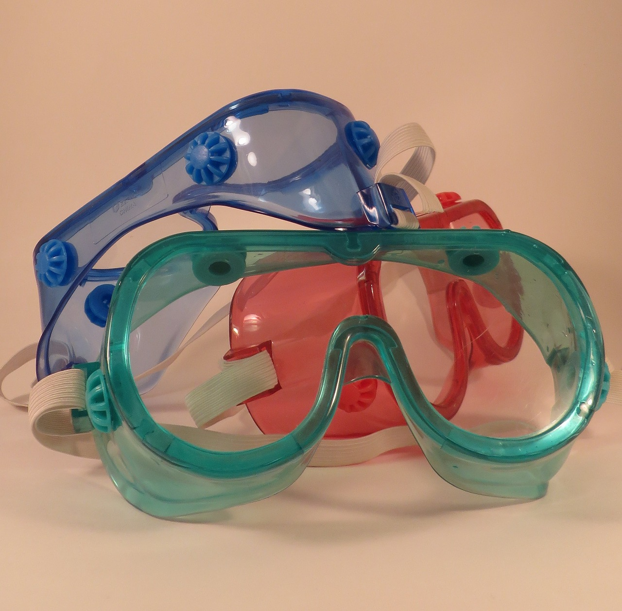 Safety goggles with different colors