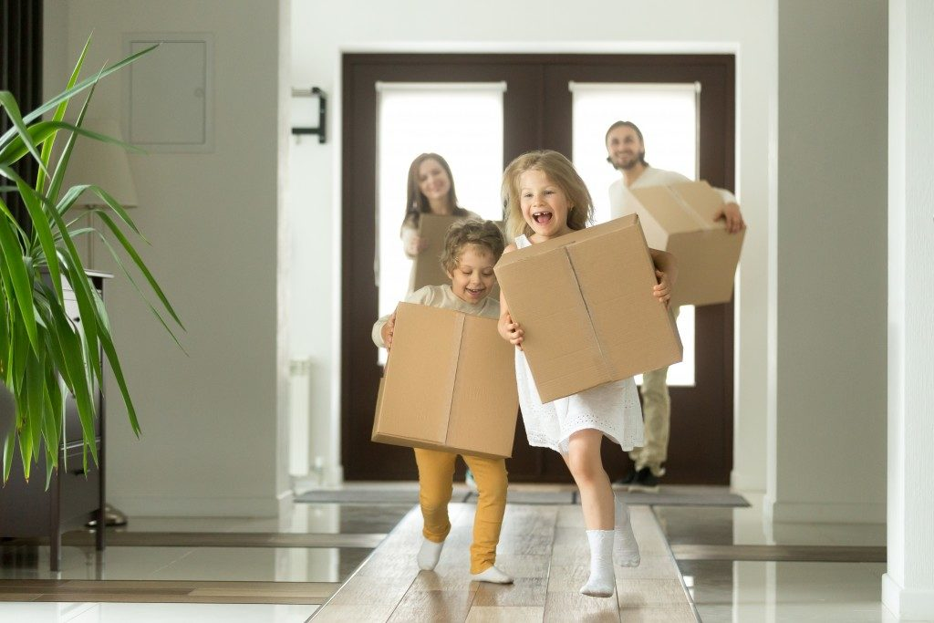 New family moving in to new place