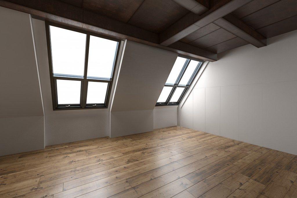 an empty loft space