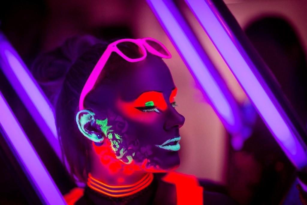 UV light, black light neon party