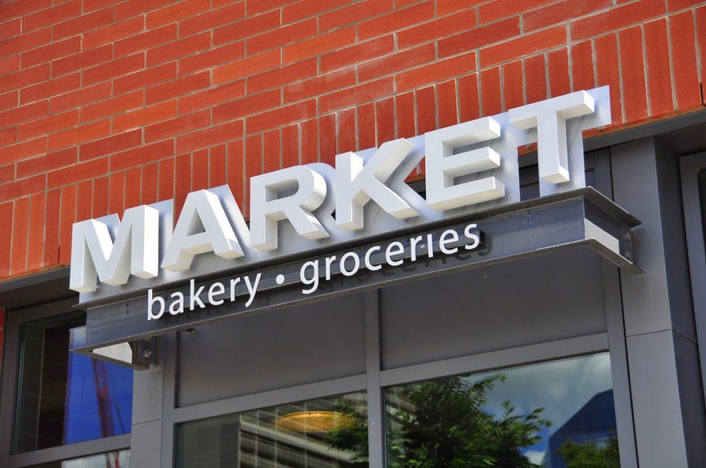 market signage