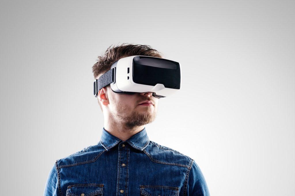 man using a VR tool
