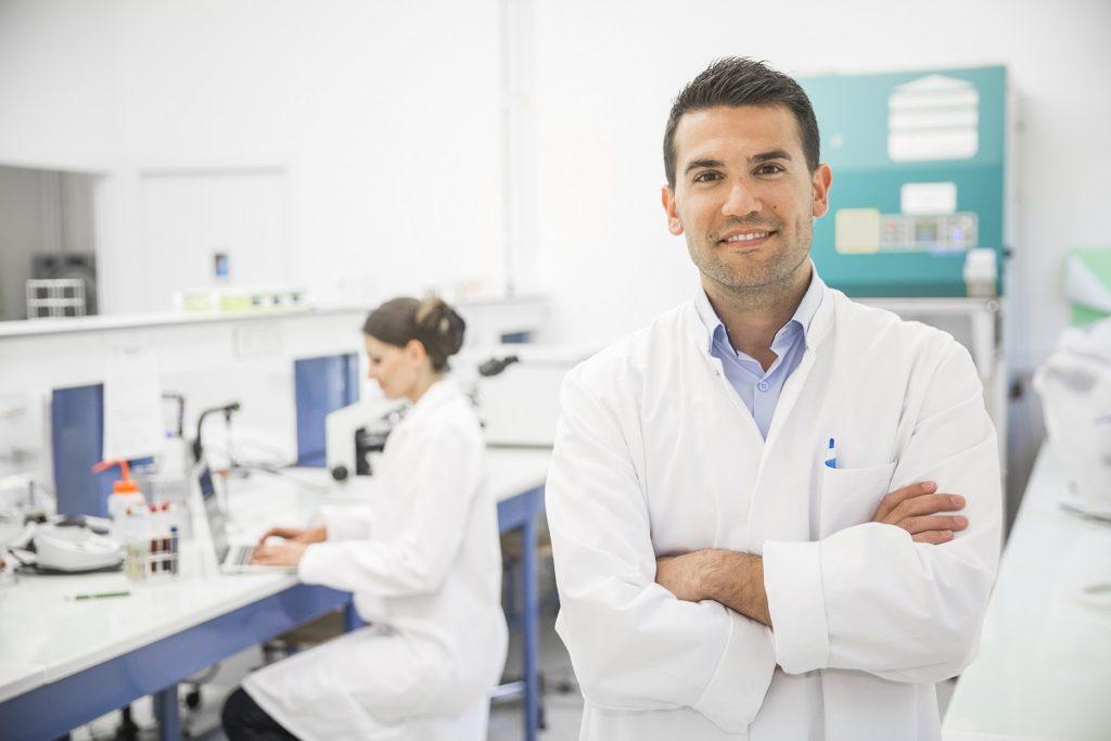 portrait of a laboratory technician