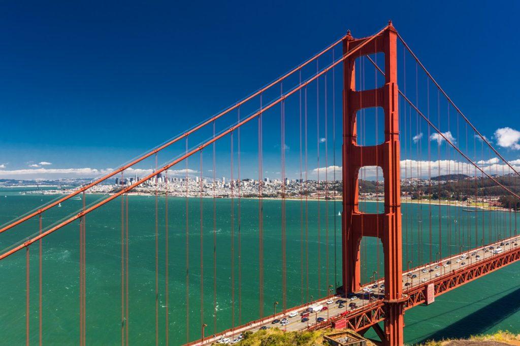 Day time shot of Golden Gate Bridge in San Francisco, California
