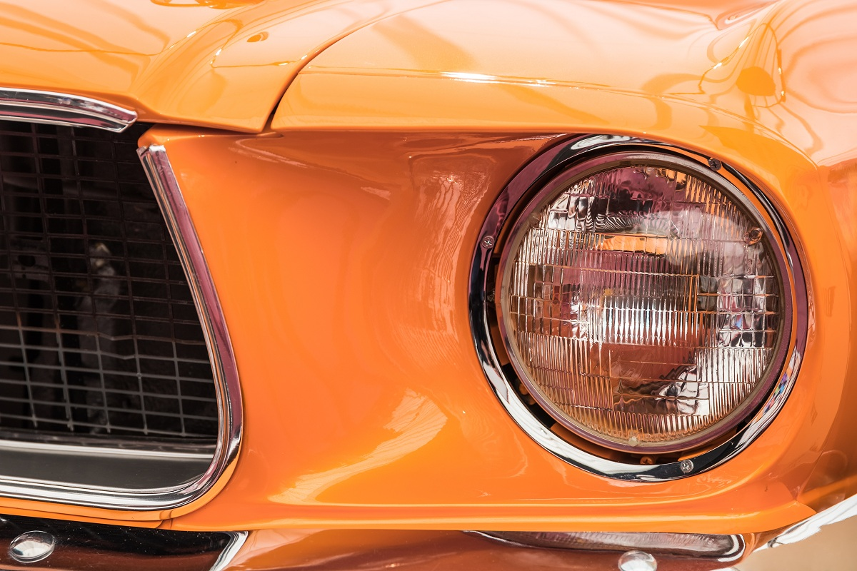 orange car bra