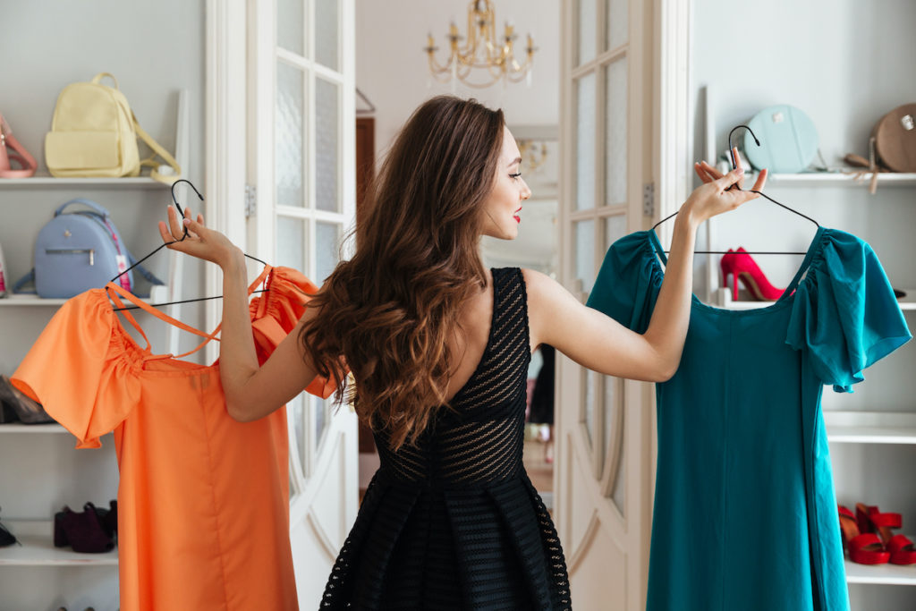 woman choosing what to wear