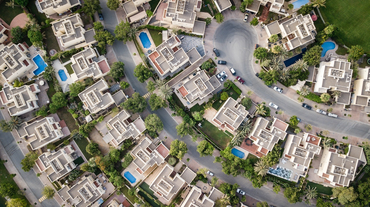residential area from above