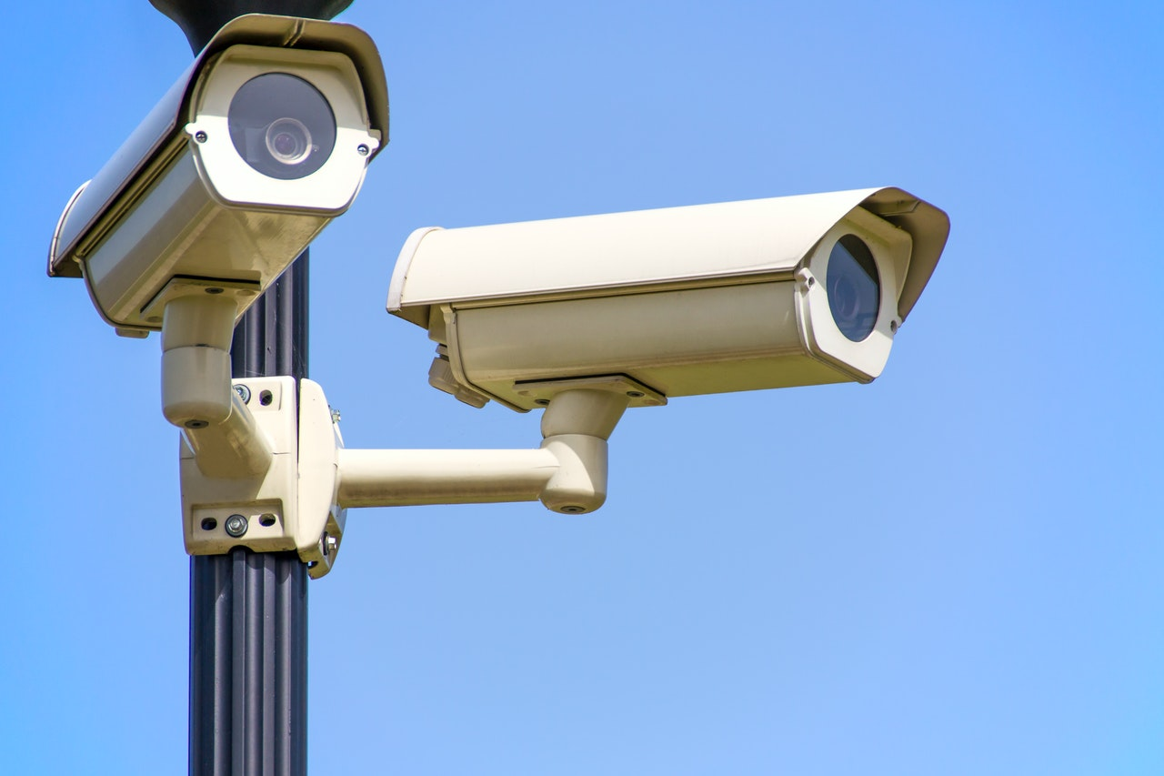 security cameras pointing in different directions