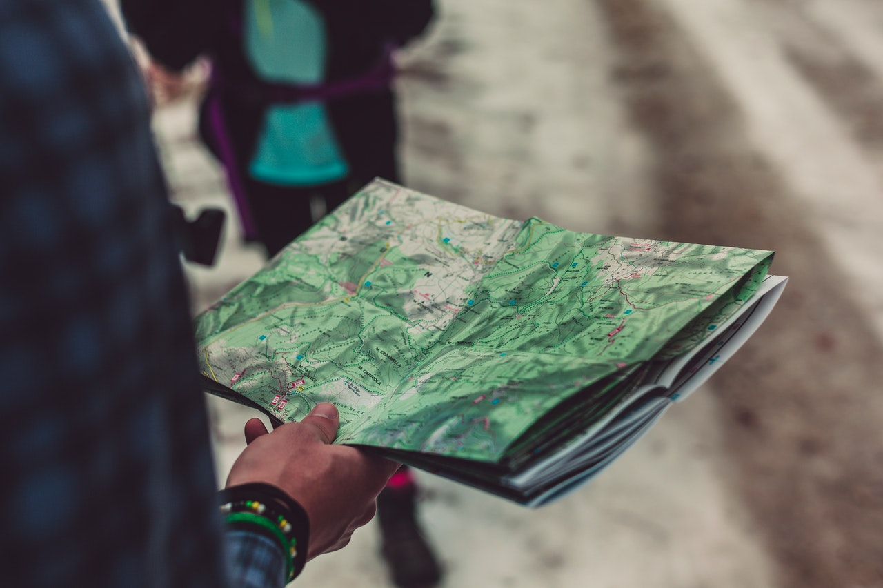 man holding a map