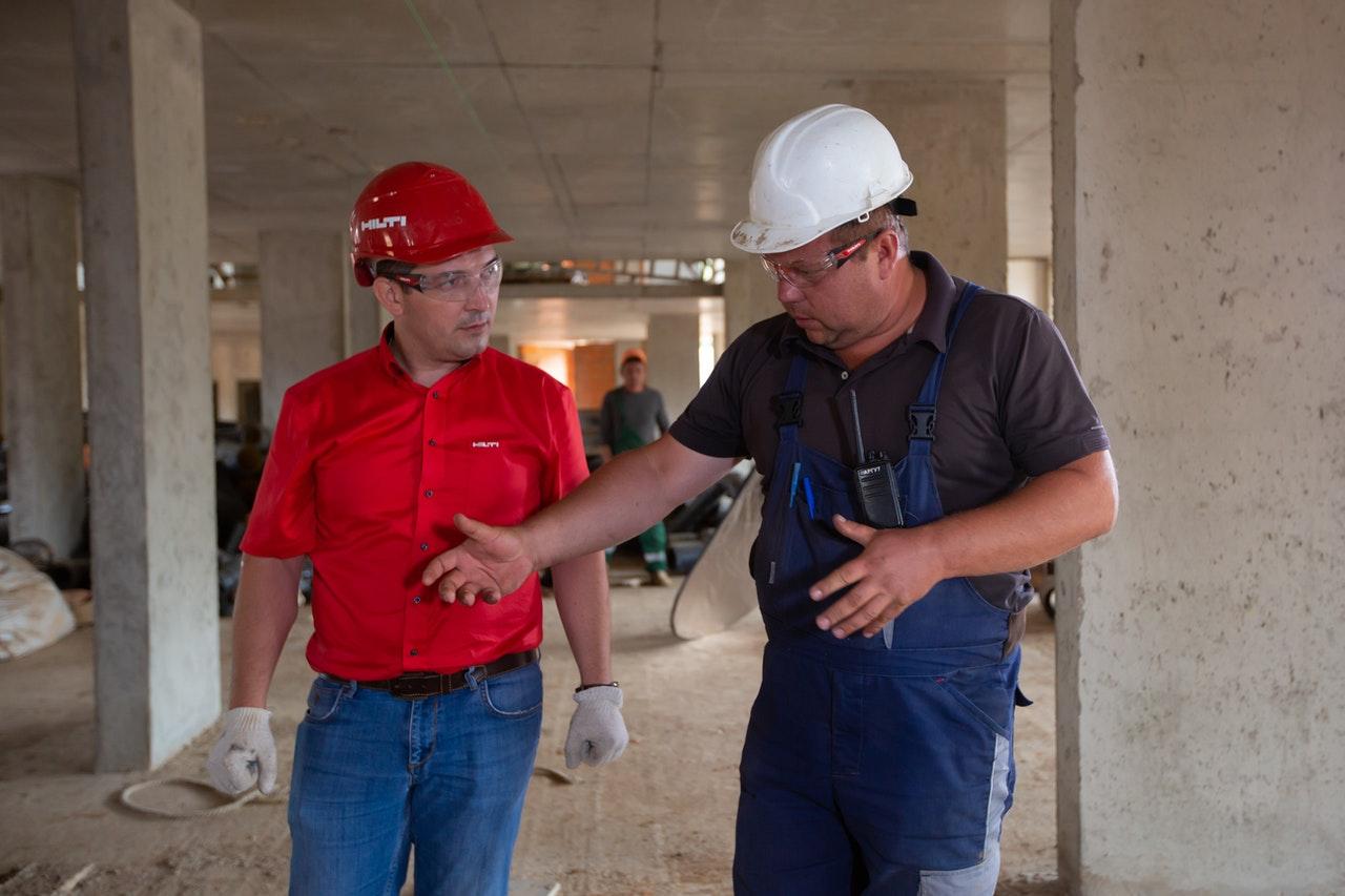 men at a construction site