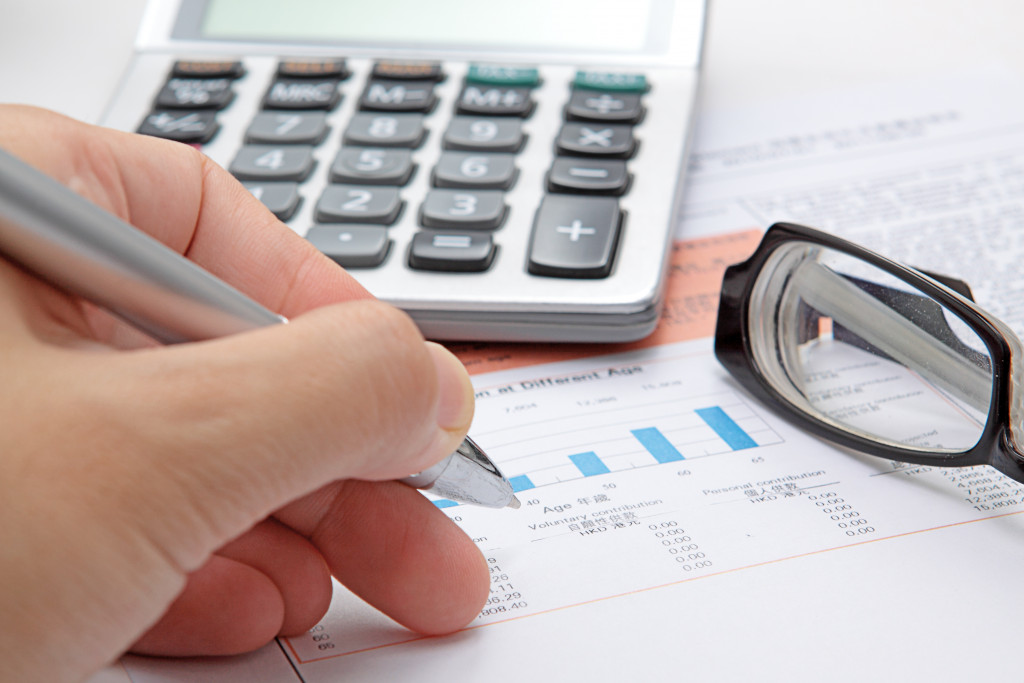 writing down finances